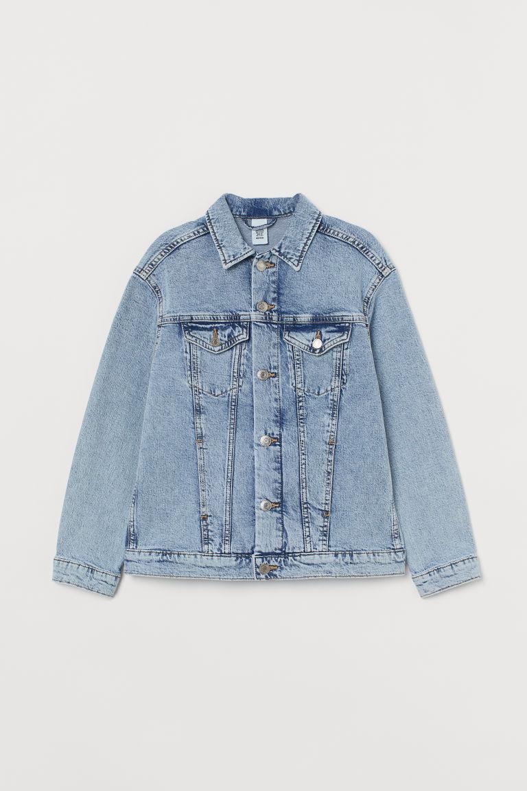 H & M - 加大碼丹寧外套 - 藍色