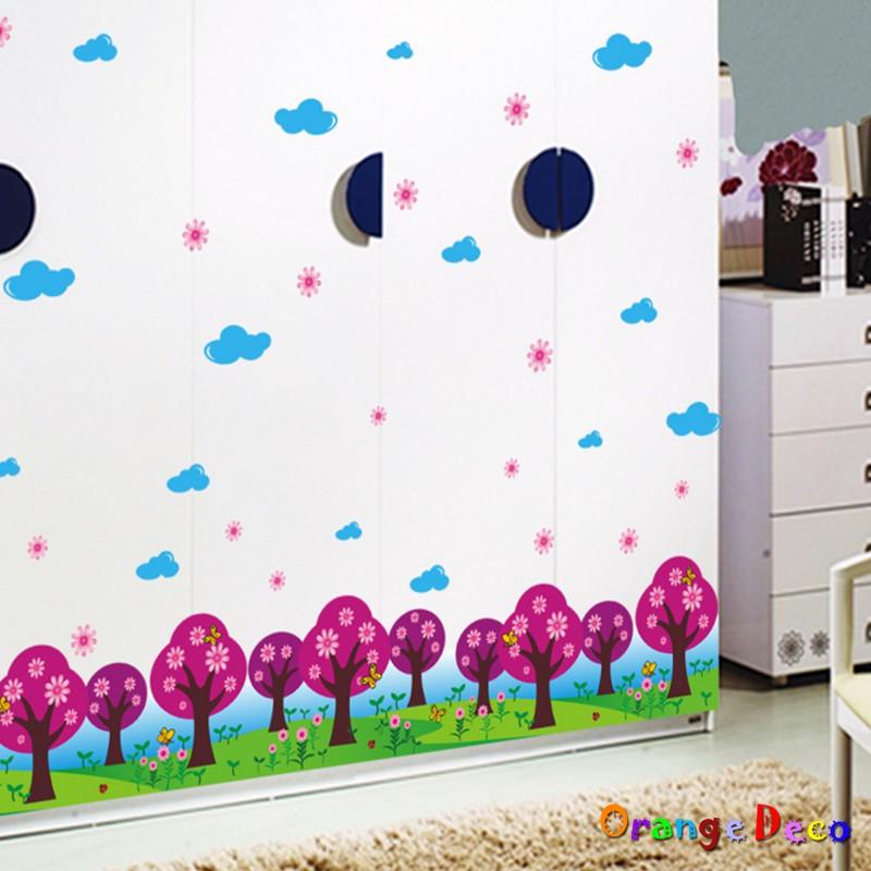 【橘果設計】公園 壁貼 牆貼 壁紙 DIY組合裝飾佈置