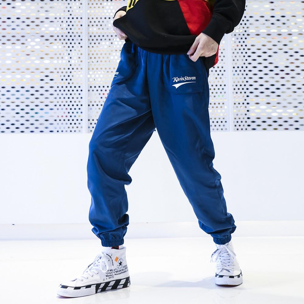 【K-2】秋冬 風衣 口袋 百搭 運動風褲 街頭 嘻哈 韓系 男女不拘 束口褲【K6667】