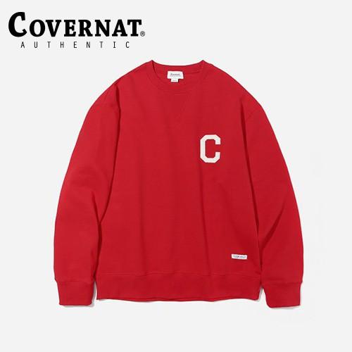 [COVERNAT] C LOGO 圓領衛衣(紅)