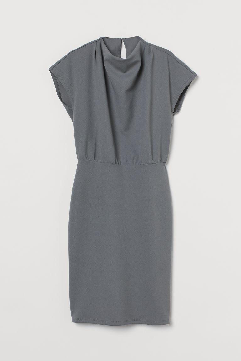 H & M - 蓋袖洋裝 - 綠色