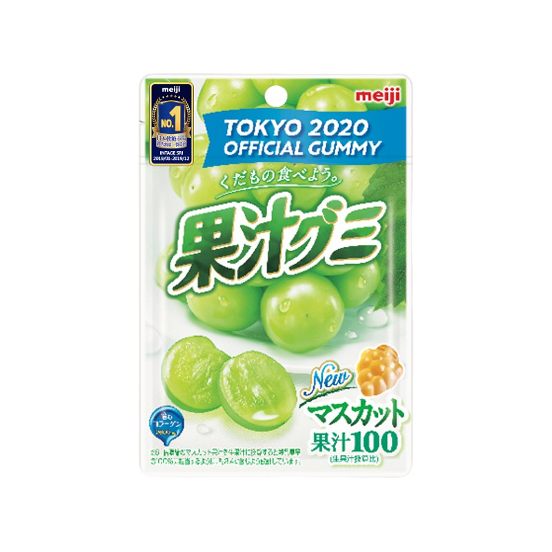 明治果汁QQ軟糖白葡萄口味 51g  【大潤發】