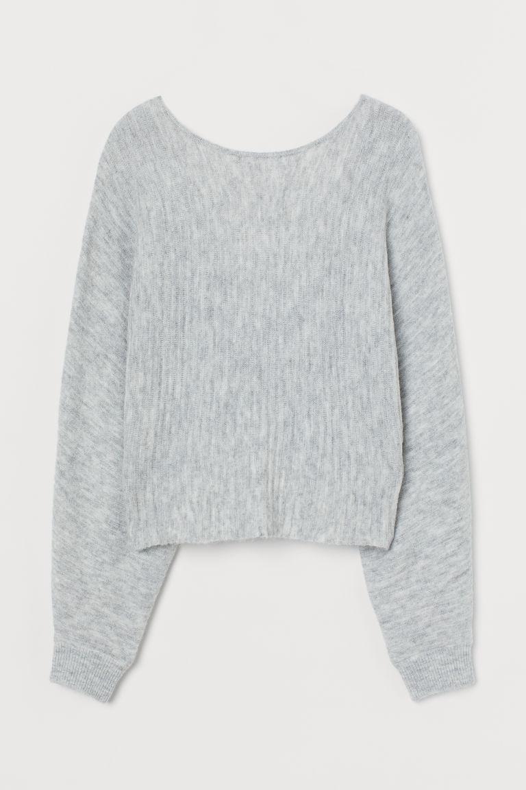 H & M - 扭繞細節套衫 - 灰色