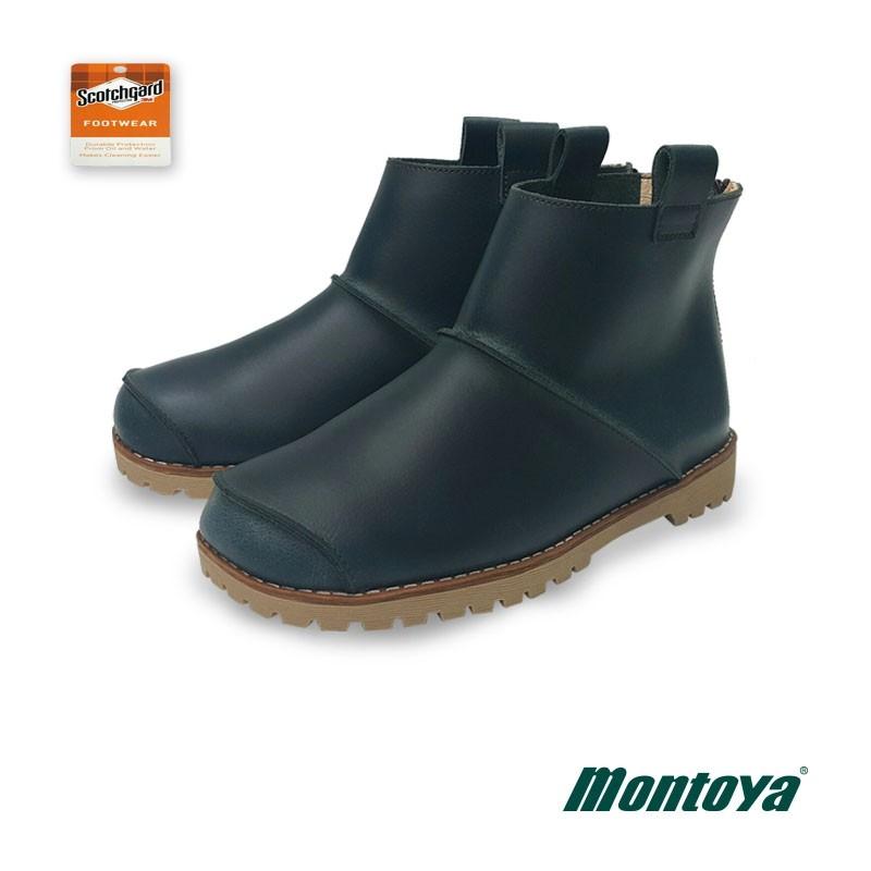 montoya 女款 藏青藍 3M拼接圓頭個性短靴-828821W