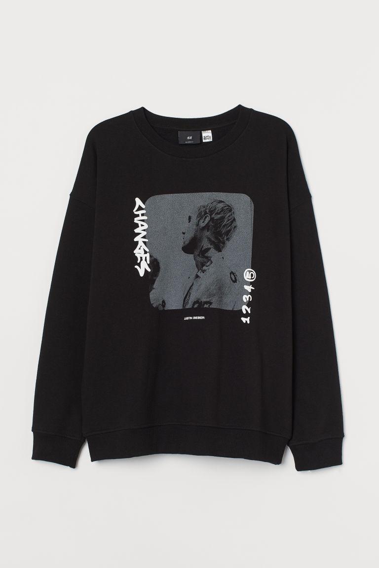 H & M - 休閒剪裁運動衫 - 黑色
