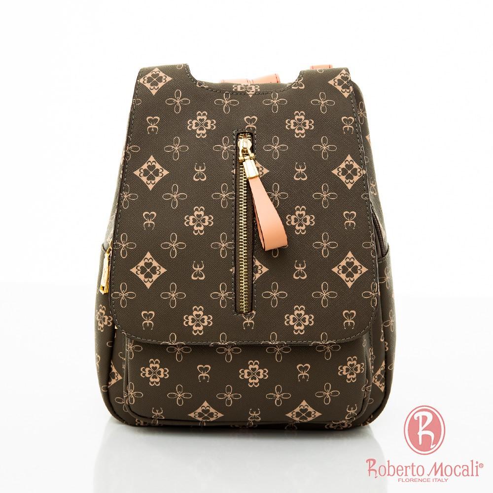 Roberto Mocali 華麗款 品牌緹花 女士 後背包