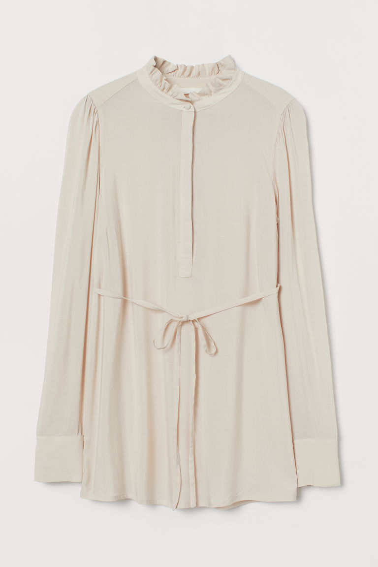 H & M - MAMA 綁帶女衫 - 米黃色