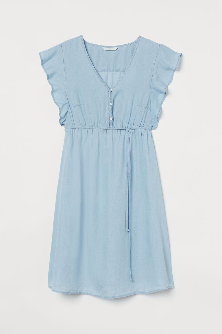 H & M - MAMA 萊賽爾洋裝 - 藍色