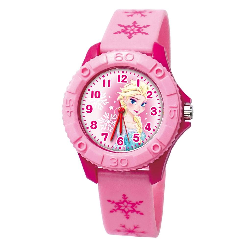 【Disney迪士尼】優雅艾莎 雙色殼兒童手錶
