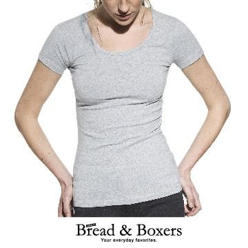 Bread & Boxers 有機棉女用圓領T (灰色) 短袖 短T 素T 素面 圓領 質感 經典 舒適 修身 送禮