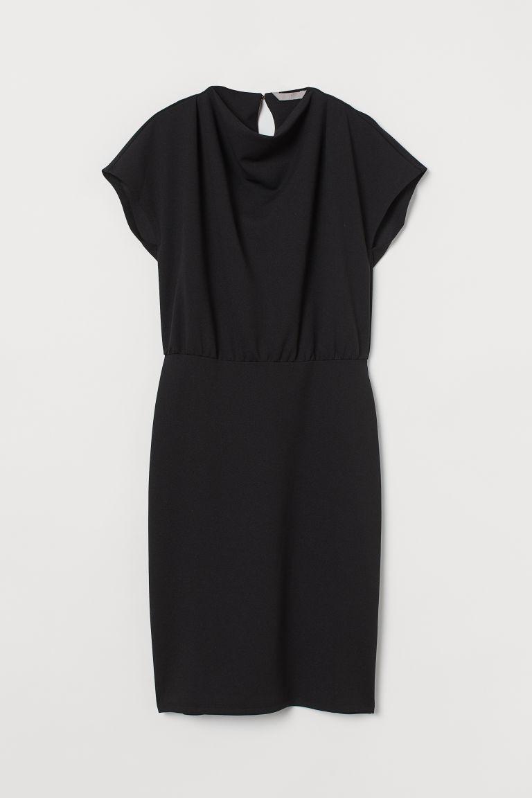 H & M - 蓋袖洋裝 - 黑色