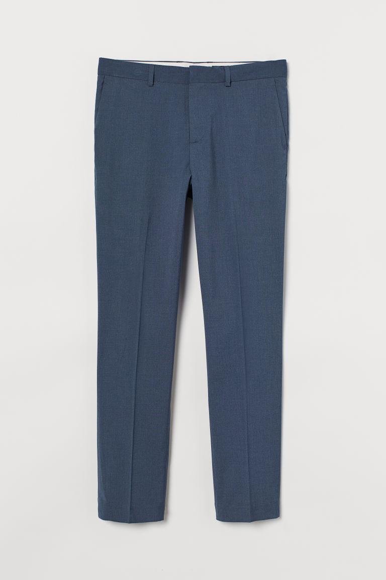 H & M - 貼身西裝褲 - 藍色