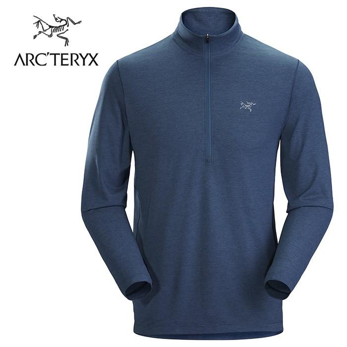 【ARCTERYX 始祖鳥 加拿大】CORMAC 快乾長袖套頭衫 運動上衣 機能衣 男款 拉冬藍 (L07521600)