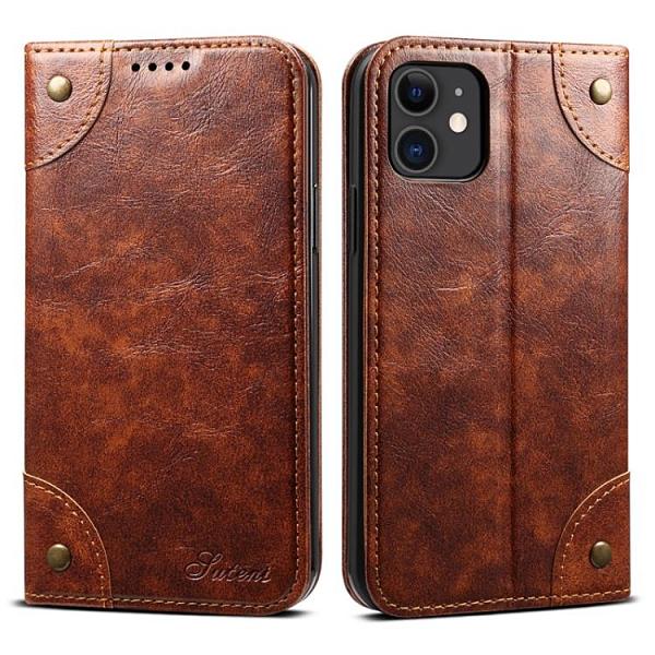 手機配件 適用iPhone 11油蠟復古書本手機套翻蓋插卡支架蘋果11 Pro保護套手機殼 手機套 皮套