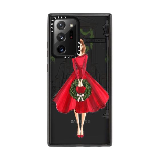 CASETiFY Samsung Galaxy Note 20 Ultra Impact Case - Holly Lane (Holiday/Christmas Fashion Illustrati