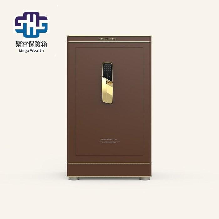 【聚富保險箱】藝術凡爾賽Versailles E120咖啡金 頂級指紋密碼保險箱/ 保險櫃/ 智慧金庫