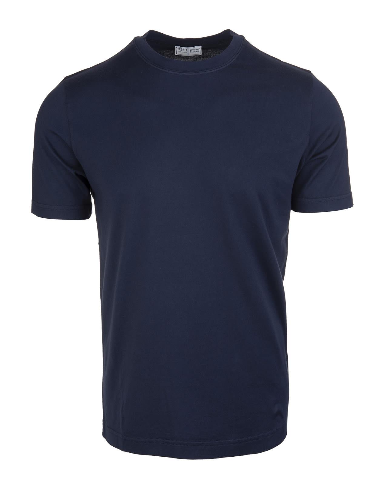 Fedeli Navy Blue Man T-shirt