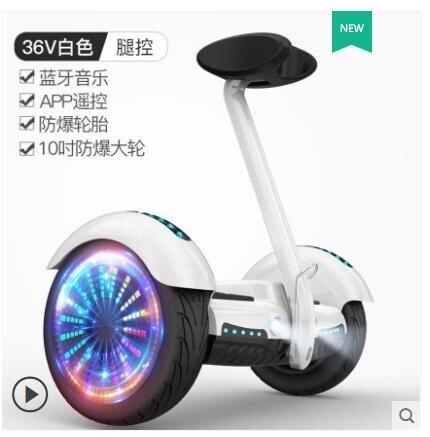 領騰兒童自平衡車成年雙輪代步小孩智能10寸越野帶扶桿電動平行車