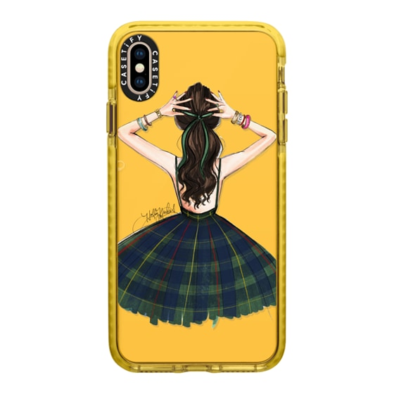 CASETiFY iPhone Xs Max Impact Case - Baubles and Bows (Brunette Hair)