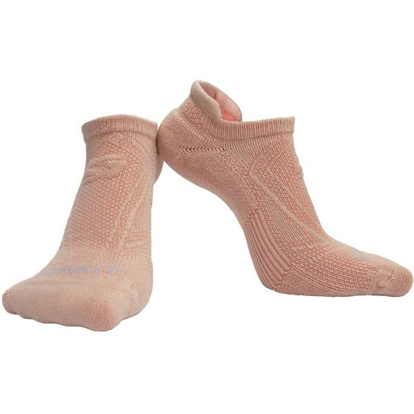 【岱宇國際Dyaco】SPIRIT 跑步踝襪(壓縮/除臭)-馬卡龍粉【A020017-PK】