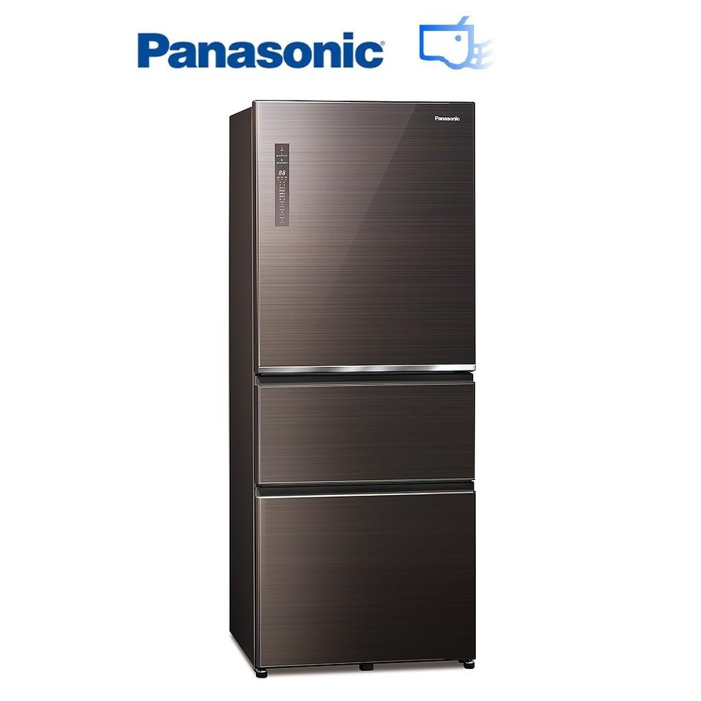 Panasonic 國際牌 500L 無邊框玻璃三門 變頻冰箱 曜石棕 NR-C501XGS-T【上位科技】