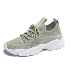 【Taroko】清新百搭飛織透氣厚底休閒鞋(4色可選)