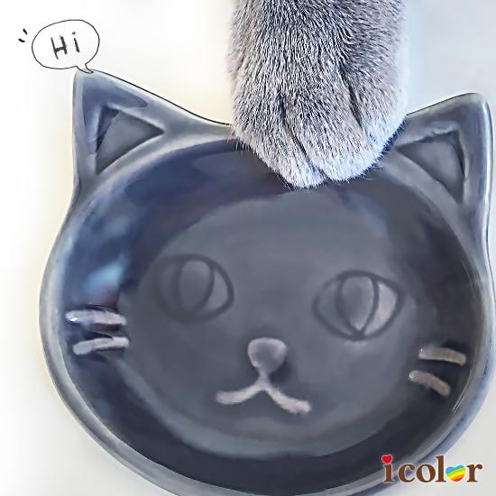 貓咪大臉造型迷你陶盤