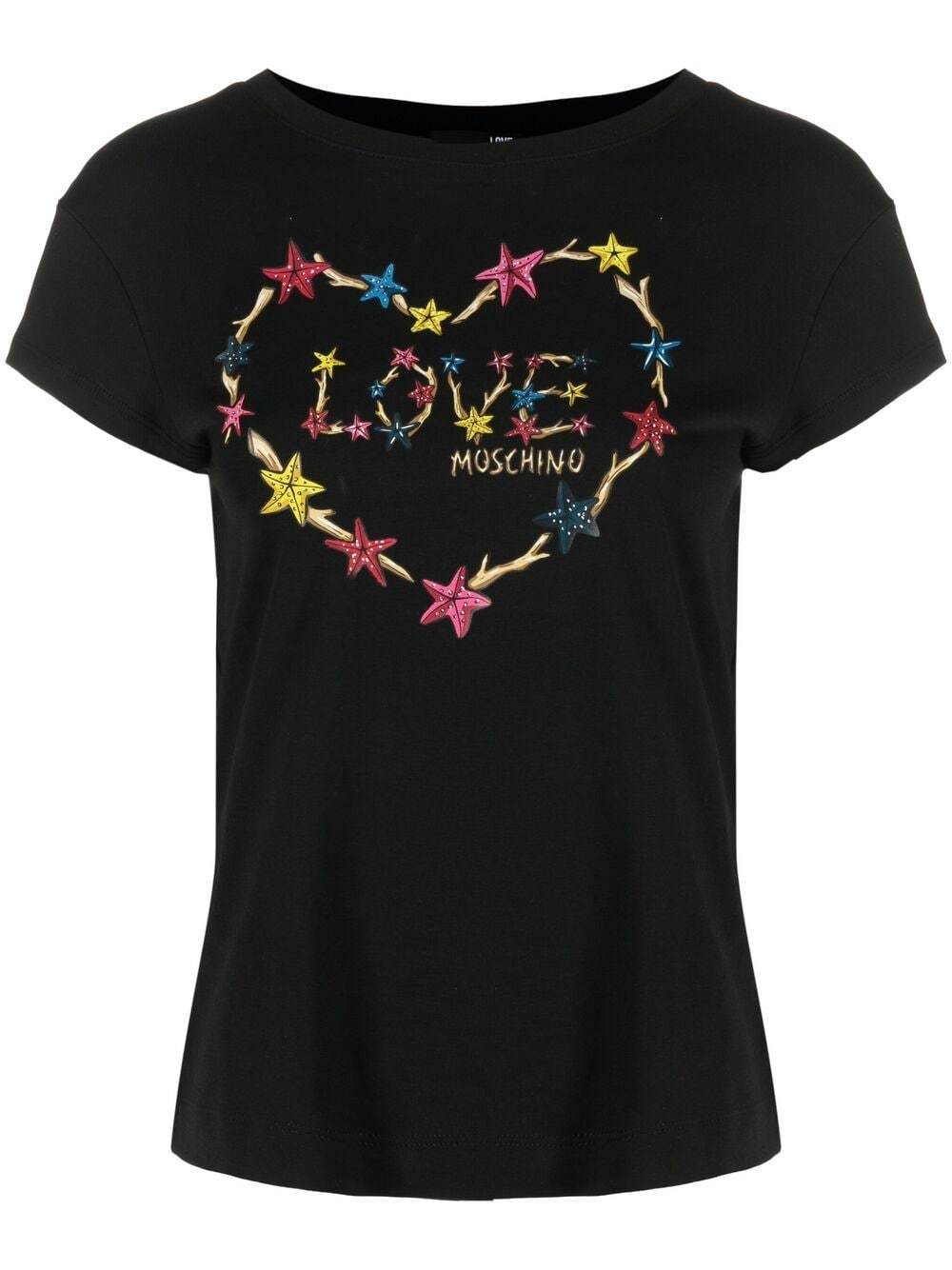 Love Moschino T-shirts and Polos Black