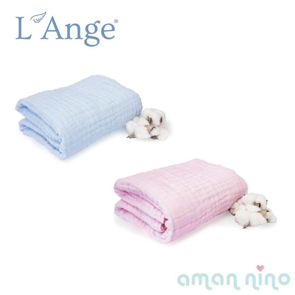 L'Ange棉之境 6層純棉紗布浴巾/蓋毯 70x95cm(兩色)【台灣代理公司貨】【愛兒悅婦幼生活館】