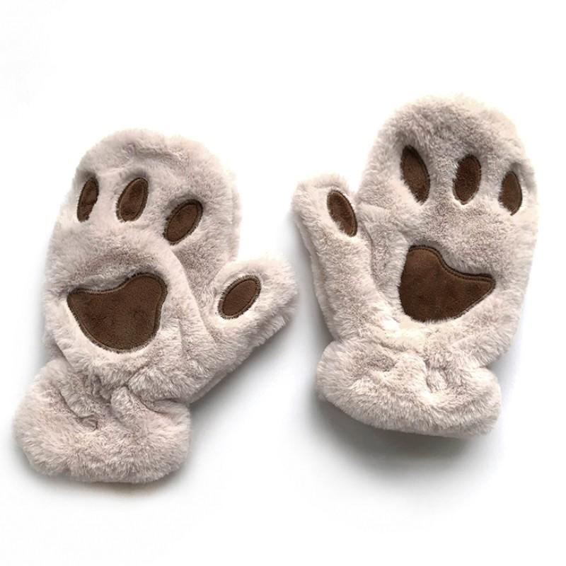 新上架 手套冬天女學生可愛防寒軟妹加厚騎車保暖韓版毛絨卡通貓爪手套