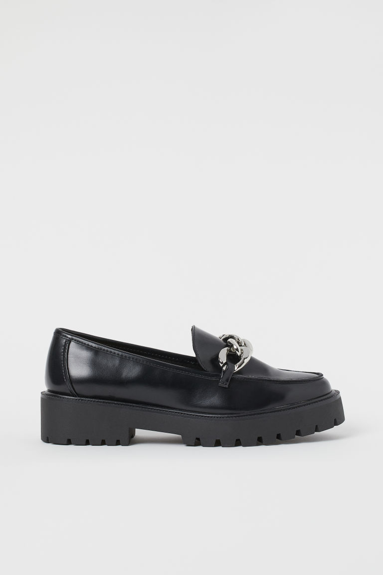 H & M - 鏈飾樂福鞋 - 黑色