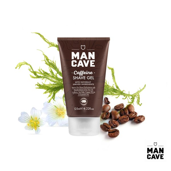GOODFORIT / 英國MAN CAVE Caffeine Shave Gel咖啡因修容凝膠/125ml