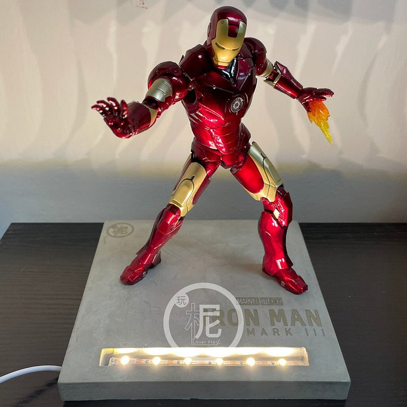 450g水泥模型燈座_ Marvel/美國隊長/鋼鐵人/雷神索爾/復仇者聯盟