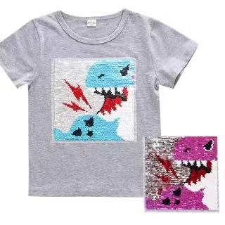 男童全棉T恤  變色恐龍