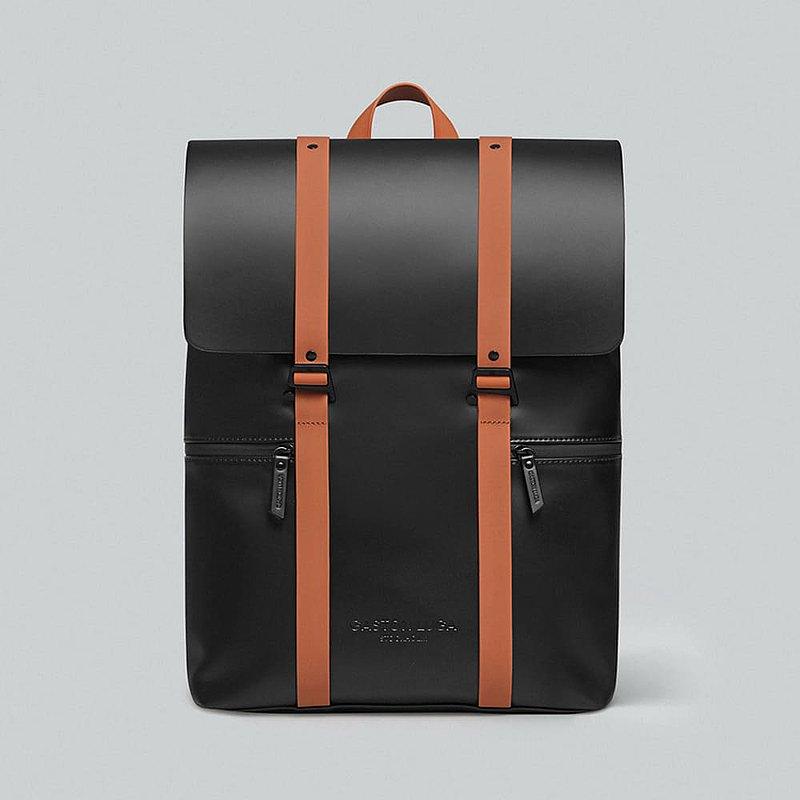 Gaston Luga Splash 16吋大容量防水後背包 - 經典黑 / 咖啡棕
