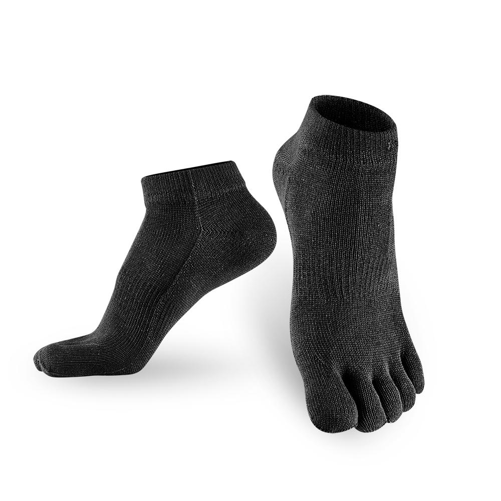 【titan】五趾生活運動踝襪_黑