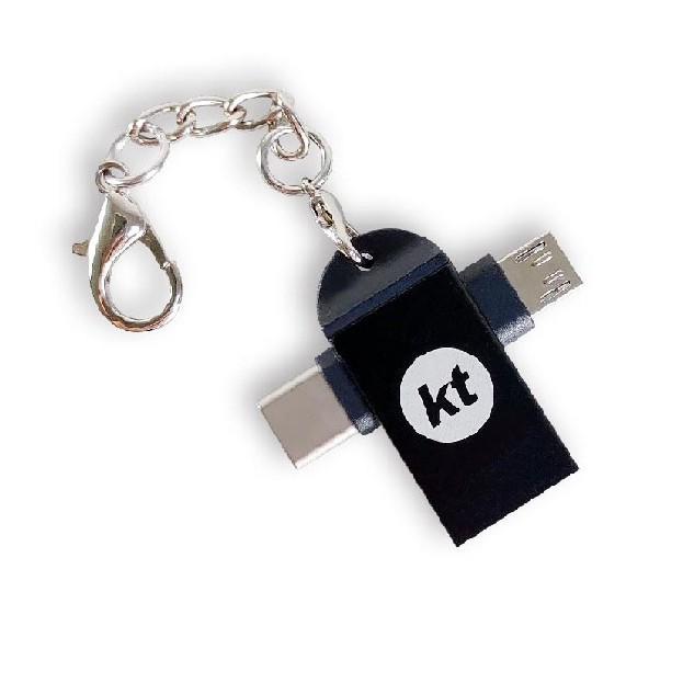 KT.NET USB3.0 A母轉TYPEC+Micro公 二合一OTG轉接頭-CN597