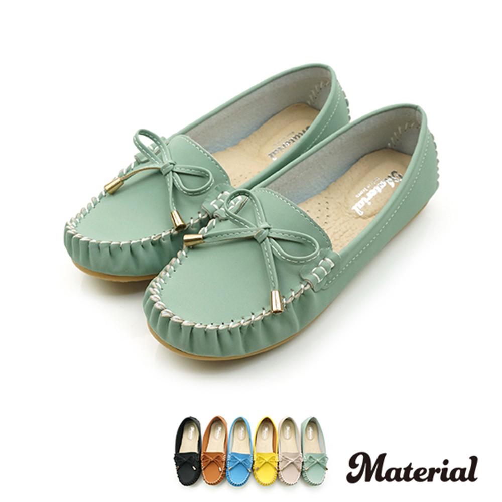 包鞋 簡約蝴蝶結豆豆鞋 真皮鞋墊  T11915
