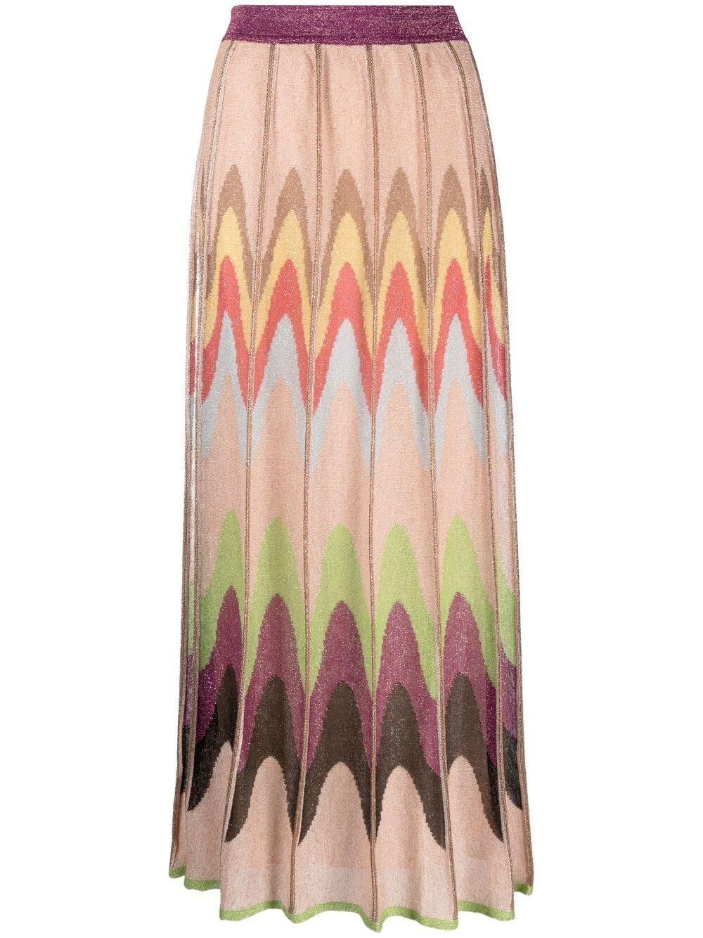 Long Multicolor Skirt in Viscose blend