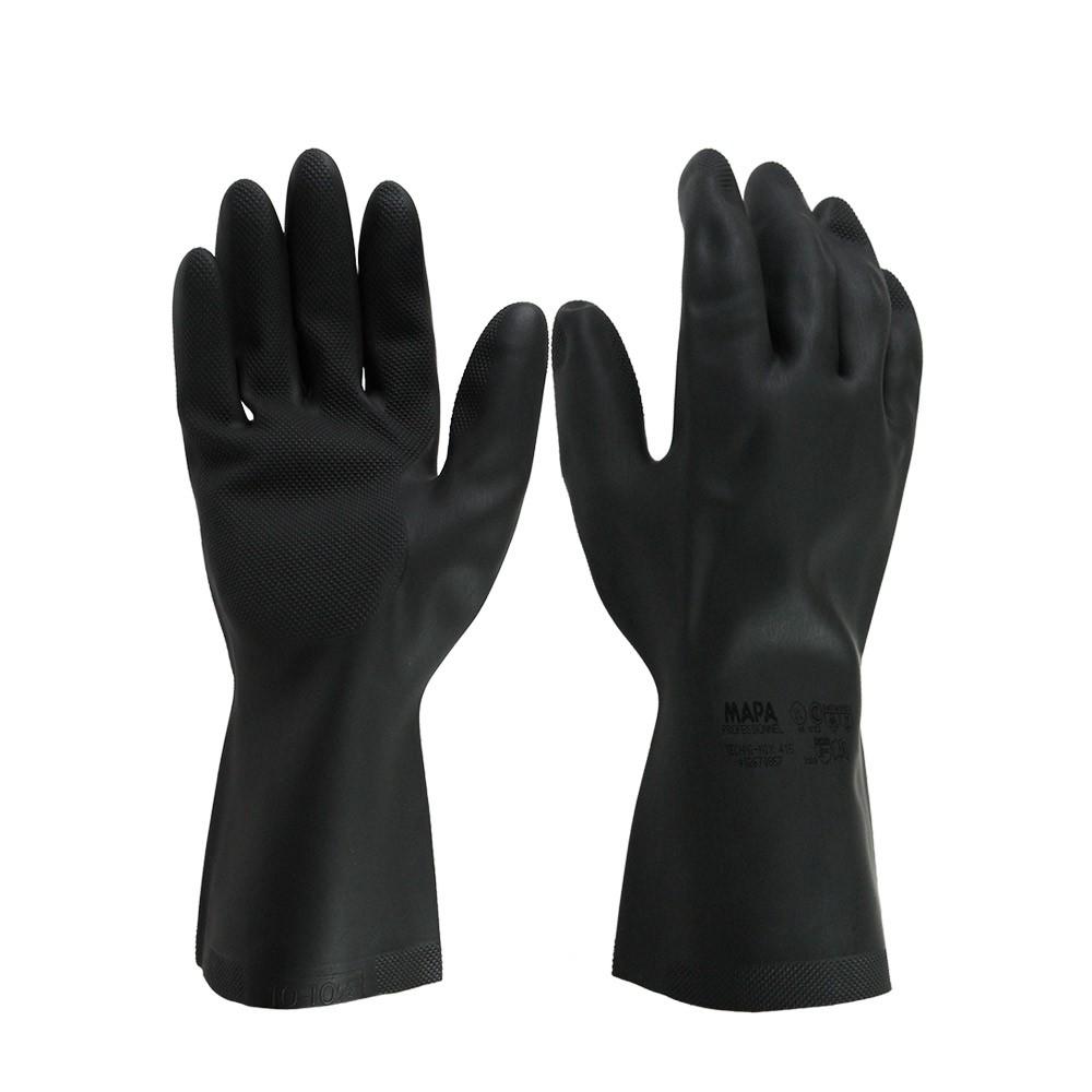 MAPA 415 防酸鹼溶劑手套 抗磨損 耐割 防穿刺 防微生物