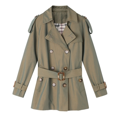 米蘭精品 風衣大衣短版外套-經典英倫風修身休閒女外套3色73yt40