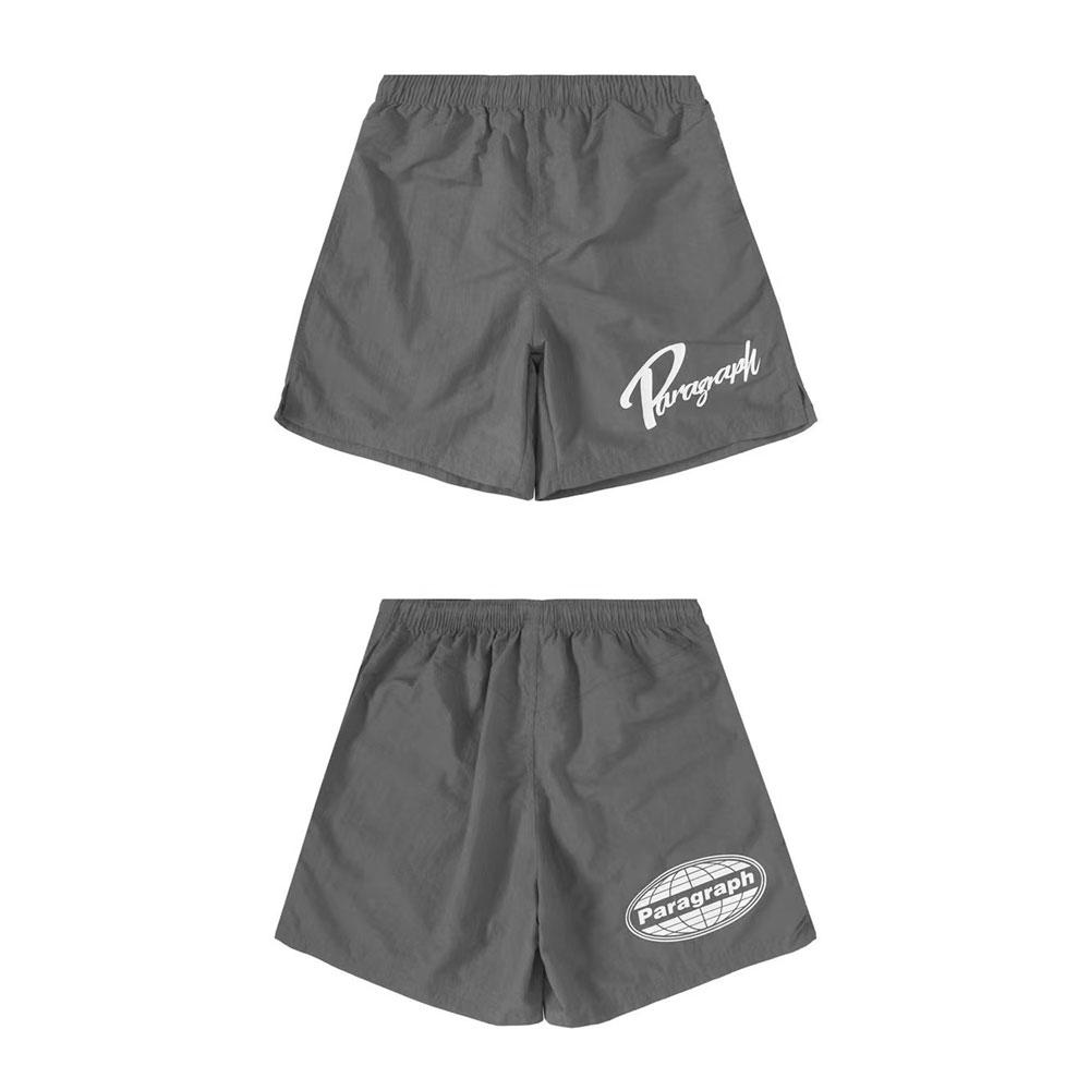 【PARAGRAPH】No.64 SUMMER SHORTS 地球 鬆緊短褲 / 休閒短褲 (GREY 灰色)