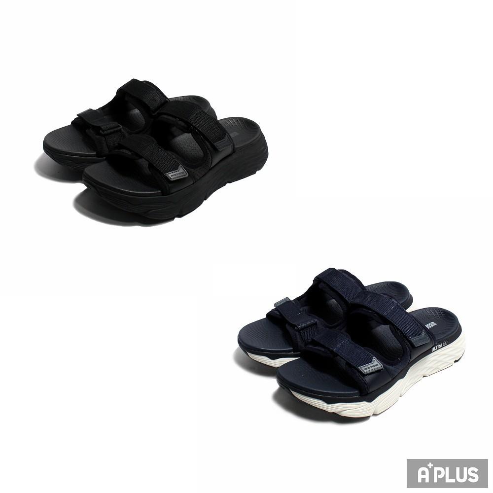 SKECHERS 男 涼拖鞋 健走系列 MAX CUSHIONING SANDAL - 229017BBK / NVBL