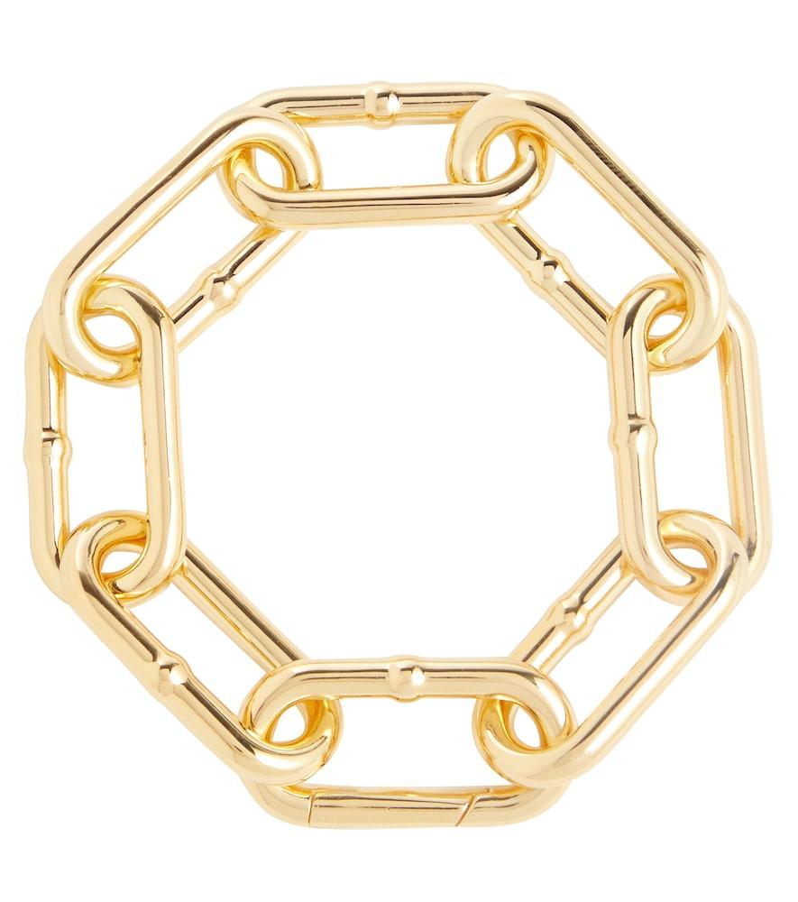 Gold-tone silver chain bracelet