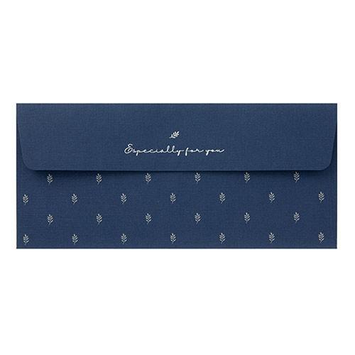 [ARTBOX OFFICIAL] 葉子圖案信封袋 (海軍藍) 韓國 文具