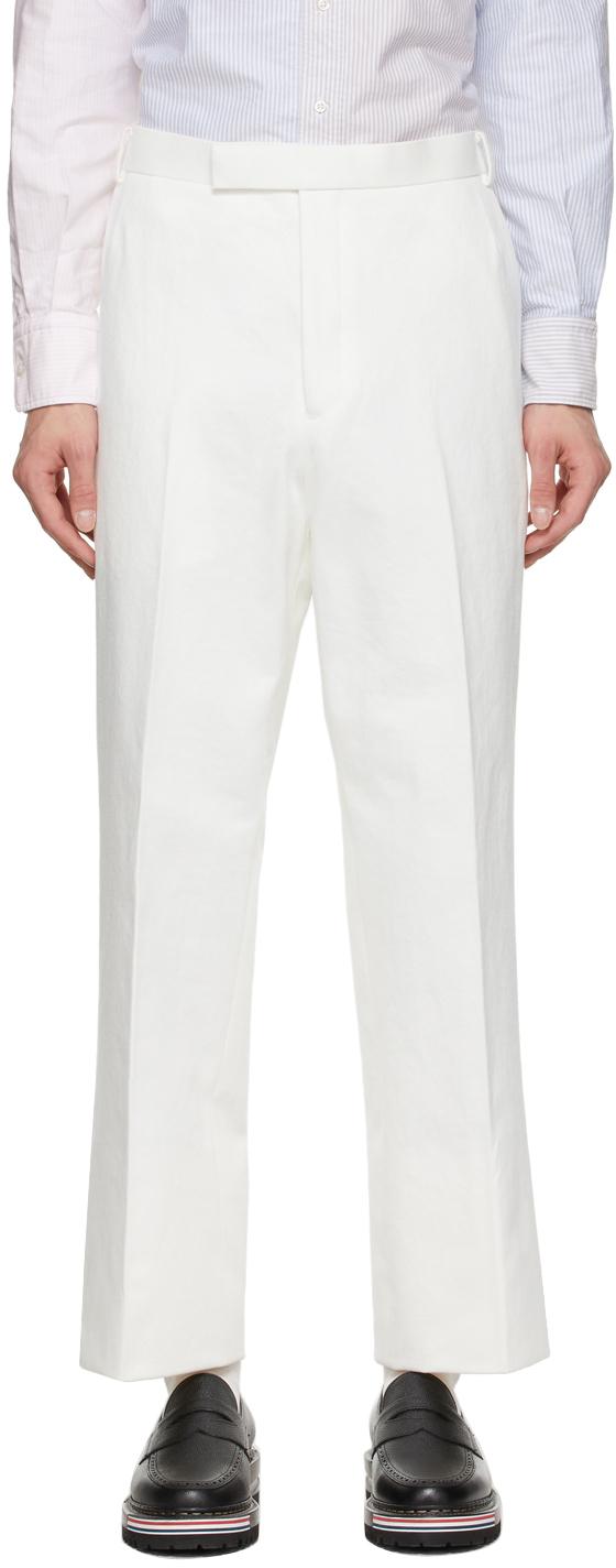 Thom Browne 白色 Unconstructed 长裤