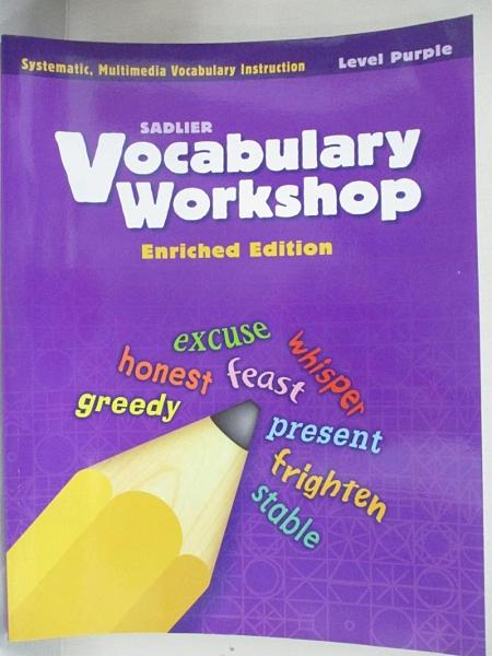 【書寶二手書T1/語言學習_I8L】Vocabulary Workshop_Level Purple