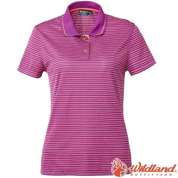 WILDLAND 0A61601- 女涼感條紋Yoke上衣 葡萄紫《台南悠活運動家》