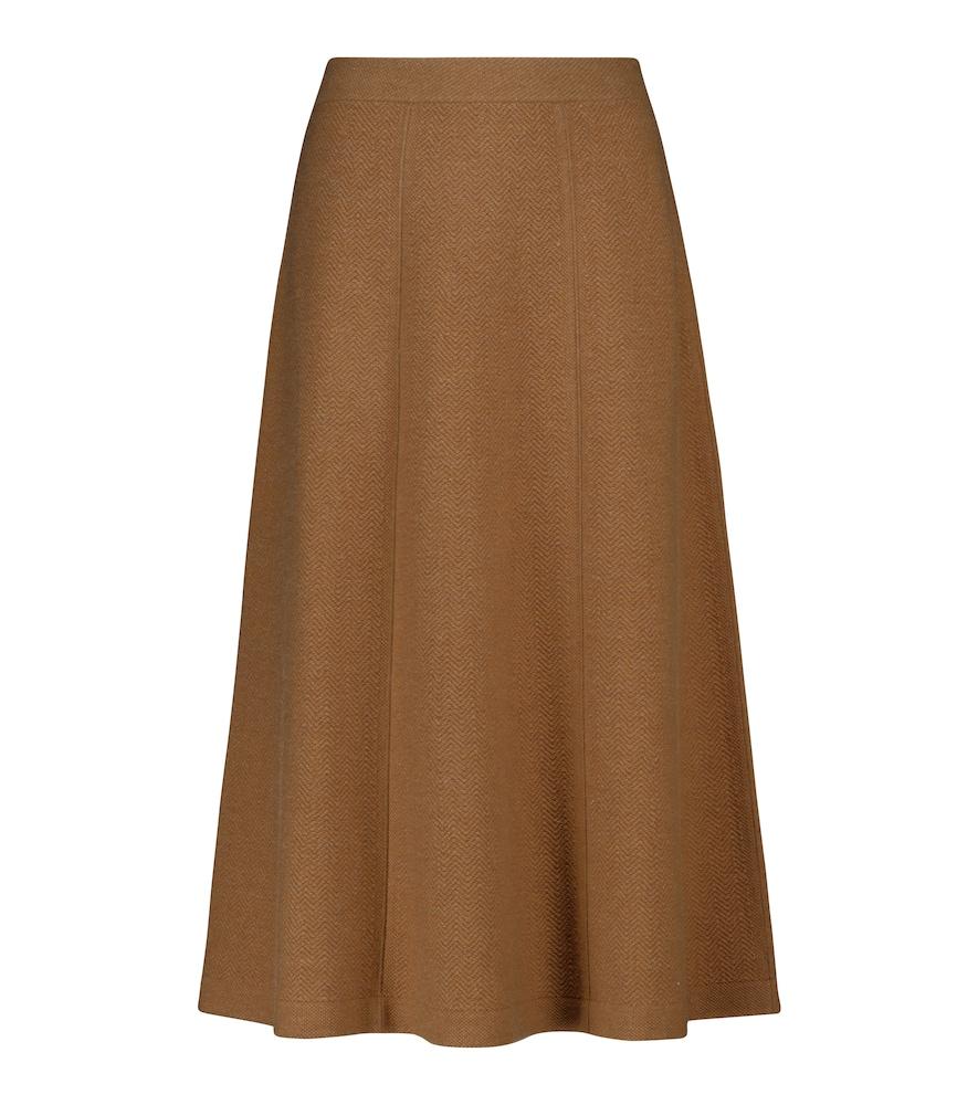Visconti cashmere midi skirt
