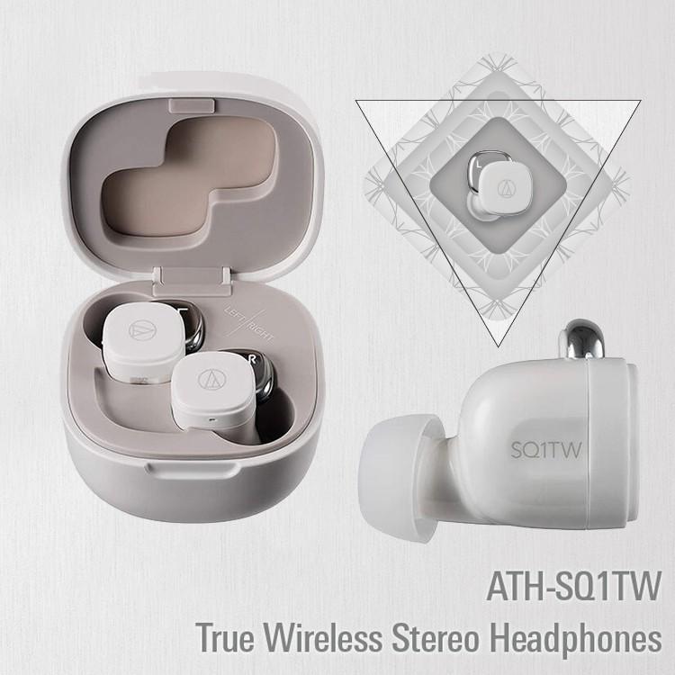 【鐵三角】 ATH-SQ1TW 新款 真無線 耳機 無線 藍牙耳機 原廠 公司貨 白色